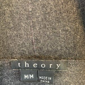 Theory Sweaters - Theory Merino Wool Long Grey Cardigan